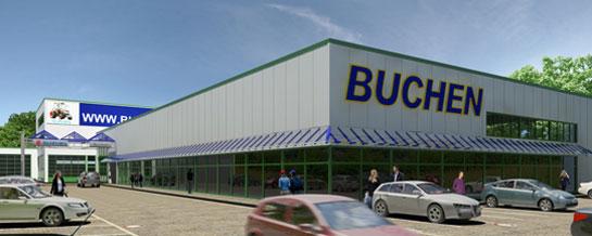 Firmengebäude der Firma Buchen's in Olpe
